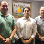 Osmar Filho se reúne com o Deputado Weverton Rocha e o Prefeito Erlânio Xavier