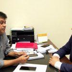 Vereador Osmar Filho se reúne com o Secretário Márcio Jerry