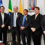 Osmar Filho celebra comenda entregue ao juiz Osmar Gomes e prefeito Edivaldo