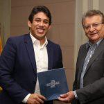 Osmar Filho recebe visita do novo presidente do Sebrae no Maranhão Encontro serviu para estreitar relações entre setor empresarial e o Poder Legislativo de São Luís