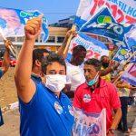 Bandeiraço reforça mobilização para reeleição do vereador Osmar Filho